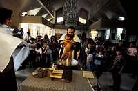 Greece,Cyprus Island, greek part, orthodox service of baptism