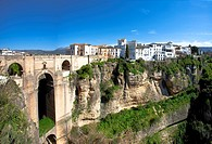 White houses of Ronda City, Andalucia, Spain, Europe