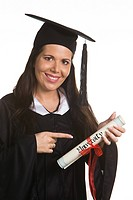 young woman graduated