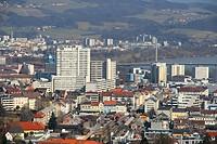 Austria, upper Austria, Linz, Urfahr with Danube