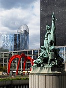 La Defense, business zone in Paris, France