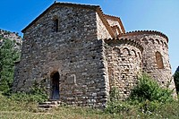 St Pere de Gruadescales, Romanesque s. X, Solsones, Catalonia, Spain.