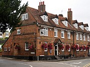 The Black Lion Inn on Fishpool Street, St Albans, UK  A traditional English Inn built in the 1700s