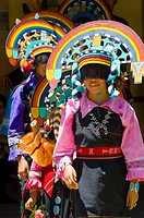 Zuni Pueblo Dancers preforming traditional dances at Bandelier National Monument, New Mexico