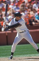 Professional Baseball player Will Clark up at bat, Candlestick Park, CA