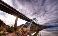 Roosevelt Lake Bridge. HDR