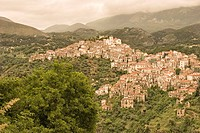 View of hill_town of Rivello, Italy.