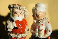Santa Claus and Mrs.Claus figurines
