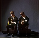 Everly Brothers, Phil and Don, in studio portrait, 1959_61