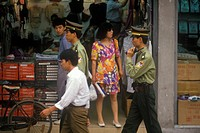 Pedestrians in Shanghai, People´s Republic of China