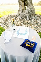 Modern Jewish Wedding Ceremony Items on Table