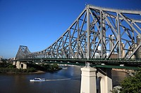 Story Bridge, Brisbane, Australia spans the Brisbane River and was opened in 1940.