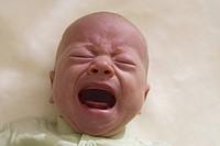 Baby boy screaming, close_up