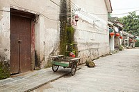 China, guangxi province, street in xingping