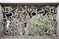 China, shanghai, pattern in wall at yu garden