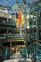 D-Dormagen, Rhine, Lower Rhine, North Rhine-Westphalia, city hall arcade, shopping mall