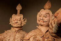 Ancient Chinese terracotta tomb ware, restored.