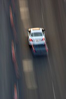 Car On Highway, Blurred Motion