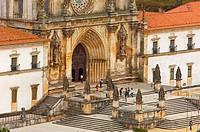 Alcobaça, Monastery of Santa Maria in Alcobaça, Mosteiro de Santa Maria de Alcobaça, UNESCO World Heritage Site, Estremadura, Leiria district, Portuga...