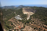 Quarry near Can Fornet, Ibiza, Balearic Islands, Spain