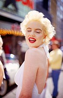 A Marilyn Monroe look-a-like