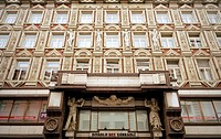 The Rondocubist building Palac Adria in Nove Mesto in Prague, Czech Republic  Designed by Pavel Janak and Josef Zasche