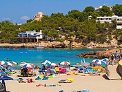 Portinatx beach. Ibiza. Balearic Islands. Spain.