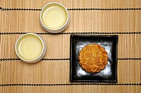 Chinese mooncake for the mid-autumn or moon festival