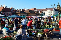 Farmers fruit and vegetable market, Gyor  Gyor  Hungary