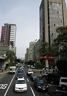peru. Lima city. Larco avenue. Miraflores district.