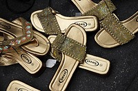 Golden women sandals