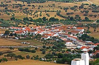 Telheiro  View from Monsaraz  Evora district  Alentejo  Portugal, Europe.