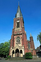 Germany, Krefeld, Rhine, Lower Rhine, North Rhine-Westphalia, D-Krefeld-Bockum, Saint Gertrudis church, catholic church, neo-Gothic style
