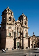 Peru. Cusco city. Church of La Compa&#241;ia de Jesus (17th century)