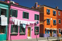 Colourful homes in Burano  Italy