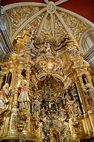 Baroque altarpiece XVIIIth Cent. in the Santuari del Miracle XVIth Cent., Solsonés, Lleida