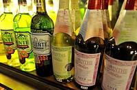 absinth bottles, Bianchi cellar, Nice, French Riviera, Alpes-MaritimesMaritime Alps, France
