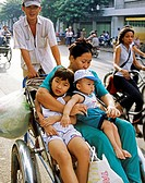 Bicycle taxi, Saigon, Vietnam
