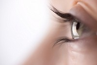 Extreme close up of young woman eye