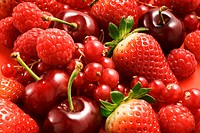 Red berries and cherries