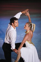 Figure Skaters Dancing Together