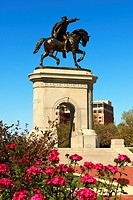 Sam Houston Equestrian Statue - Houston, TX  This 40 foot bronze equestrian figure of Sam Houston is one of the most prominent features of Hermann Par...