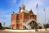 Courthouse - Grimes Co, TX  The 1894 Grimes County Courthouse is located in Anderson, Texas  It features a unique Edwardian Victorian structure made o...
