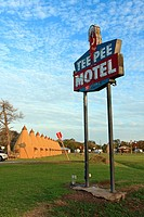 Tee Pee Motel - Wharton, Texas  The TeePee Motel was originally designed and built in 1942 by George and Toppie Belcher  Today it stands as a testimen...