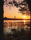 Sunsetting over Devenish Island on Lough Erne, Fermanagh