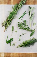 Food And Drink, Food, Fresh Herbs, Herbs, Dill, Rosemary, Thyme, Sage, Chives, Cooking, Homegrown,