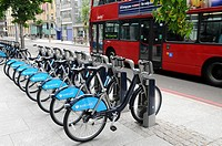 Barclays cycle hire, London. United Kingdom