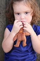 a young girl with a teddy bear, gresham, oregon, united states of america
