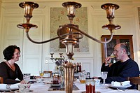 BREAKFAST, BED BREAKFAST AT THE CHATEAU DE LA PUISAYE, VERNEUIL_SUR_AVRE, FRANCE.