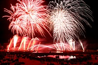 FIREWORKS, PYROTECHNIC DISPLAY, LES NUITS DU FEU, FIREWORKS AND SOUND AND LIGHT FESTIVAL, CHATEAU DE CHANTILLY